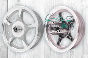 Диск колеса передний 10`‑2.50 литой, 5 спиц, диск, d12 (звезда) #1