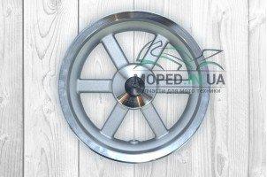 Диск колеса передний 12`‑3.50 литой, 6 спиц, диск, d12